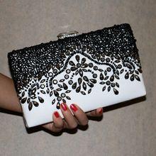 Nuevas mujeres diamantes de lujo superior de tarde del embrague del mensajero bolsos de hombro de cadena con el acrílico monedero de la cartera(China (Mainland))
