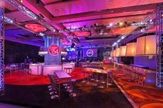 For ESPN's official after-party for 3,000 at the JW Marriott at L.A. Live, 15/40 Productions ran with the design direction to reimagine a traditional ballroom into a strong, dynamic space fit for celebrating athletic A-listers. The resulting look included multilevel connecting decks, a rotating center bar and lounge, and lots of metal and steel structures punctuating the space.