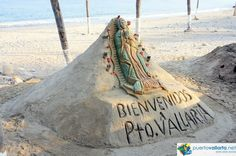 Welcome to Puerto Vallarta, sand sculpture on the malecon http://www.puertovallarta.net/what_to_do/puerto-vallarta-malecon.php