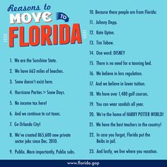 The Sunshine State is the best place to live! Under strong Conservative leadership Florida has created private-sector jobs in just over 4 years. Moving To Florida, Florida Travel, Florida Keys, Florida Beaches, Moving To Miami, Florida Girl, Florida Living, Florida Home, Central Florida