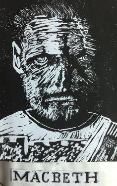 Chris - Macbeth - linocut