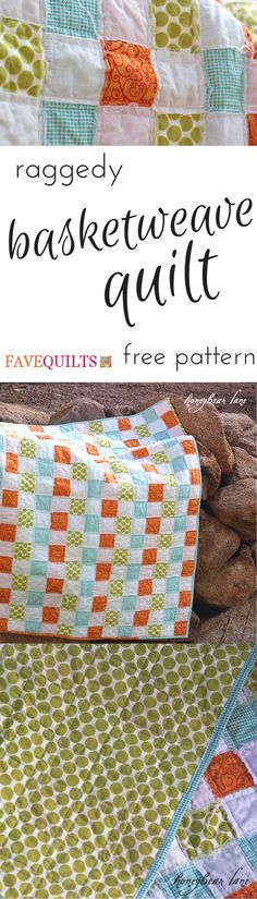 The Raggedy Basketweave Quilt is a creative quilt pattern that combines elements of rag quilting, quilt-as-you-go methods, and cheater quilts.