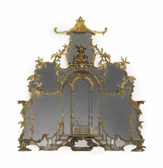 A GEORGE II GILTWOOD OVERMANTEL MIRROR ATTRIBUTED TO WILLIAM AND JOHN LINNELL, CIRCA 1755 Price realised  USD 509,000.