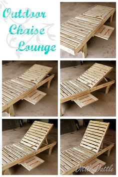 DIY chaise lounge