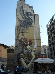 street art Mural In Greece by DAL and 000 Street Art News, Best Street Art, Amazing Street Art, Street Artists, Amazing Art, Awesome, Graffiti Art, Banksy, Photographie Street Art
