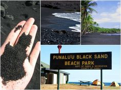 60 Most Mysterious and Interesting Places on Earth - HitFull.com  --- Black Sand Beach in Hawaii: Punalu'u