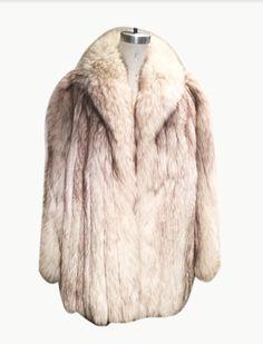 3c4211f6475 Vintage 1970 s Blue Fox Men s and Womens Fur Coat Vintage Fur