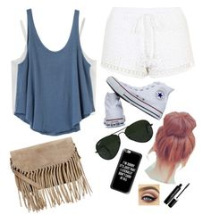 """""""cute shopping day! ∞↡"""" by cuteblondie0411 on Polyvore featuring Chicwish, RVCA, Topshop, Converse, Ray-Ban, Casetify, Marc Jacobs and Accessorize"""