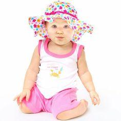 Amazon.com: Luvable Friends Girls Sun Hat: Clothing