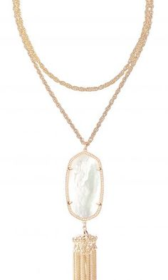 Rayne Necklace Rose Gold Ivory Pearl