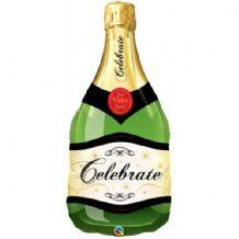 Champagne Bottle Large Foil Balloon 1pc