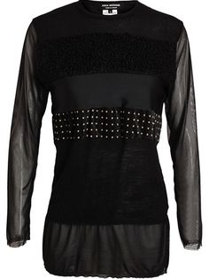Junya Watanabe Contrasting Fabric Striped Top - Biffi - Farfetch.com