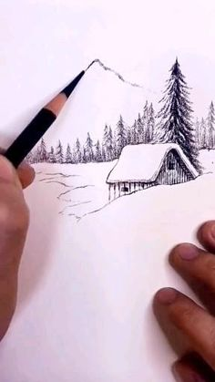Art Drawings Beautiful, Art Drawings Sketches Simple, Pencil Art Drawings, Pencil Sketches Landscape, 3d Art Drawing, Drawing Ideas, Canvas Painting Tutorials, Easy Canvas Art, Steel Drawing