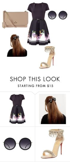"""Untitled #10"" by karini-miguel ❤ liked on Polyvore featuring beauty, Ted Baker, Alice + Olivia, Christian Louboutin and Vivienne Westwood"