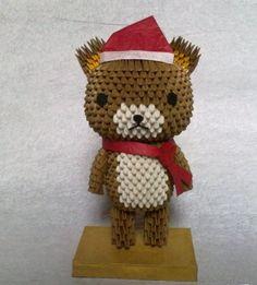 3D Origami - Santa Bear