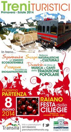 Alla sagra delle ciliegie in treno!   L'Abruzzo è servito   Quotidiano di ricette e notizie d'AbruzzoL'Abruzzo è servito   Quotidiano di ricette e notizie d'Abruzzo