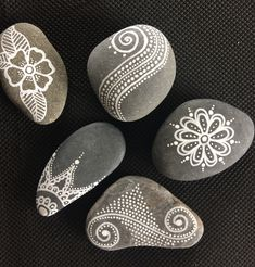 Hand-Painted Personalized Stone Wedding Favors & Gifts by CarraigRocks Mandala Painting, Pebble Painting, Dot Painting, Pebble Art, Stone Painting, Mandala Painted Rocks, Mandala Rocks, Painted Rock Cactus, Painted Stones