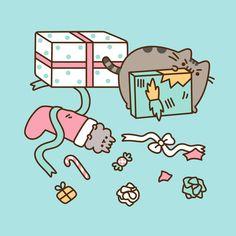 "12.9 k gilla-markeringar, 96 kommentarer - Pusheen Box (@pusheenbox) på Instagram: ""Oh the joy of wrapping presents with kitties! #pusheen #pusheenbox"""