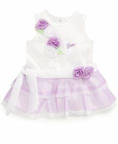 GUESS Baby Girls' 3D-Flower Tulle Dress