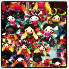 Mexican dolls ♥ I used to have one, my grandma brought it back from Mexico for me. I wonder if I still have it?!