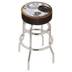 Anaheim Ducks NHL D2 Retro Chrome Bar Stool. Available in two seat heights. Visit SportsFansPlus.com for details.