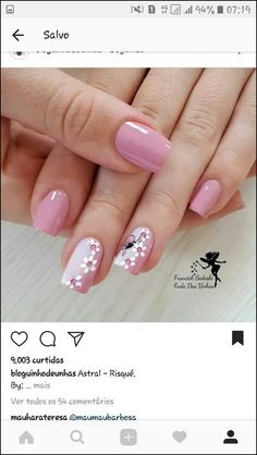 130 cute spring nail art designs to spruce up your next mani page 39 130 cute spring nail art designs to spruce up your next mani page 39 nageldesign blumen Cute Spring Nails, Spring Nail Colors, Spring Nail Art, Summer Nails, Cute Nails, Stylish Nails, Trendy Nails, Pink Nails, My Nails