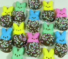 Best picture I could find ... Peeps dipped in chocolate and sprinkles ... Easter fun!