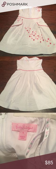 Lilly Pulitzer Dress Lilly Pulitzer Strapless Dress. Size 6.  Pockets on the front. Worn once! Lilly Pulitzer Dresses Strapless