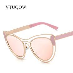 Fashion Lady Cat Eye Sunglasses Women 2017 New Brand Designer Popular High Quality Eyewear Mirror Sun Glasses For Women Female #Affiliate