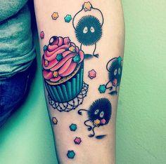 Sootballs From My Neighbor Totoro And Spirited Away Tattoo   Bored Panda