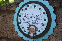 Monkey Baby Shower Signs from Dragonfly Papier on Etsy