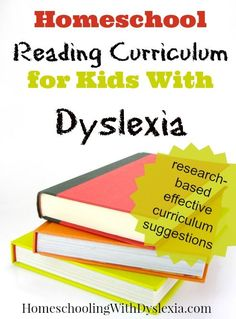 homeschool dyslexia reading curriculum