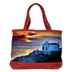 Solitary Sunset - Shoulder Bag > Lake Tahoe Moon Presents - Travel