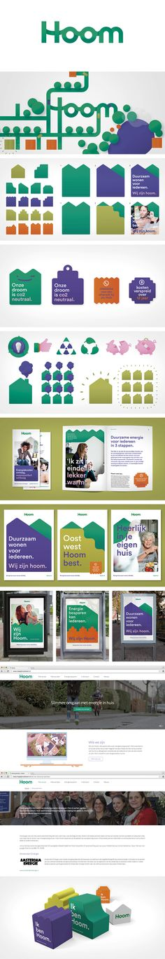 More corporate-designs are collected on: https://pinterest.com/rothenhaeusler/best-of-corporate-design/ · Client: Hoom · Agency: Silo Design · Source: http://www.silodesign.nl/en/case/hoom-brings-sustainable-living-closer/ · #branding #identity #corporatedesign