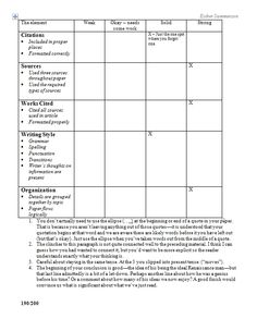 Rubric science research paper