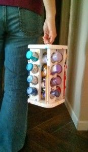 Spiced Up Paint Caddy - The Palette Muse - organize acrylic paint in a spice rack, add a handle to make it portable