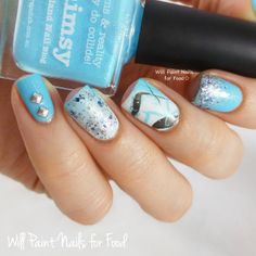 piCture pOlish 'Whimsy' mani art by Will Paint Nails for Food!  Shop on-line now: www.picturepolish.com.au