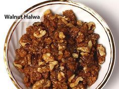 Winter's most rich, healthiest sweet dish walnut halwa is utter tasty. Check it out the Walnut Halwa Recipe here ! Indian Desserts, Indian Sweets, Indian Food Recipes, Gourmet Recipes, Cooking Recipes, Healthy Recipes, Indian Dishes, Chocolate Hazelnut Cake, Salted Caramel Cake