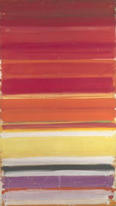 Patrick Heron / Horizontal Stripe Painting: November 1957 - January 1958 / 1957-8 / Oil paint on canvas