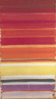 Patrick Heron / Horizontal Stripe Painting: November 1957 - January 1958 / 1957-8 / Oil paint on canvas