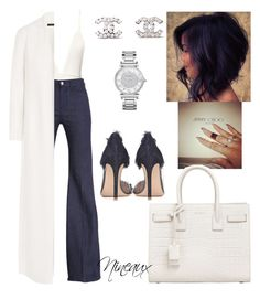 Untitled. by styledbynineaux on Polyvore featuring The Row, 7 For All Mankind, Gianvito Rossi, Yves Saint Laurent, Michael Kors and Chanel