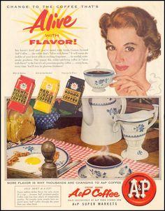 A & P COFFEE - LIFE 11/14/1955 - p. 94