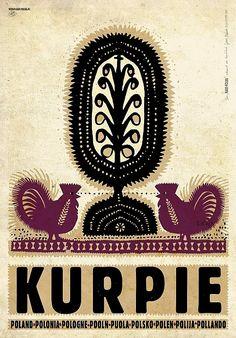 Kurpie, polski plakat turystyczny