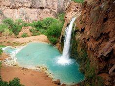 105 world's most amazing waterfalls: Havasu Canyon Falls, Arizona, USA