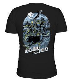 Live Free Ride Free  #image #shirt #gift #idea #hot #tshirt #motorcycle #biker