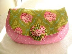 Candy pink and muted green with hydrangea by Bag Of Joy / Fine Ting, via Flickr