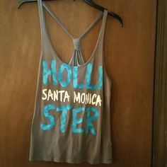 Hollister tied Racer back Tank Such a relaxed wear In great shape! Hollister Tops Tank Tops