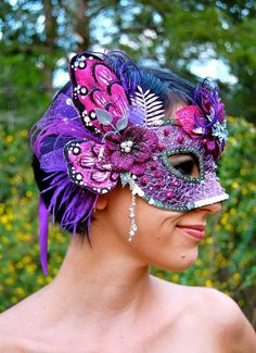 faerie head dress | FAERIE MAGICK Feather Headdress Mask SALE by FeatherPixie on Etsy, $84 ...