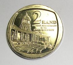 South Africa Two Rand (R2) 2013 - 100th Anniversary of the Union Buildings