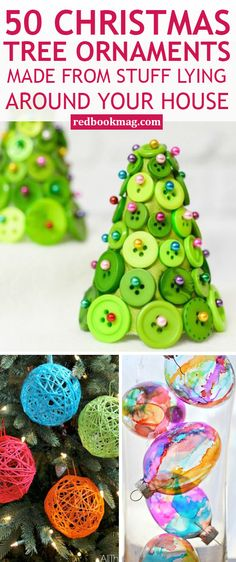 CHRISTMAS TREE ORNAMENT CRAFTS: These fun holiday decor ideas are one-of-a-kind and so Insta-worthy! Create these cute Christmas tree ornaments with these easy ideas and tutorials. Learn how to transform wrapping paper, your wedding veil, buttons, cupcake liners, and more into these truly special holiday ornaments! Find all the Christmas crafting ideas here!